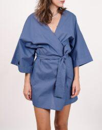 kimono-albastru
